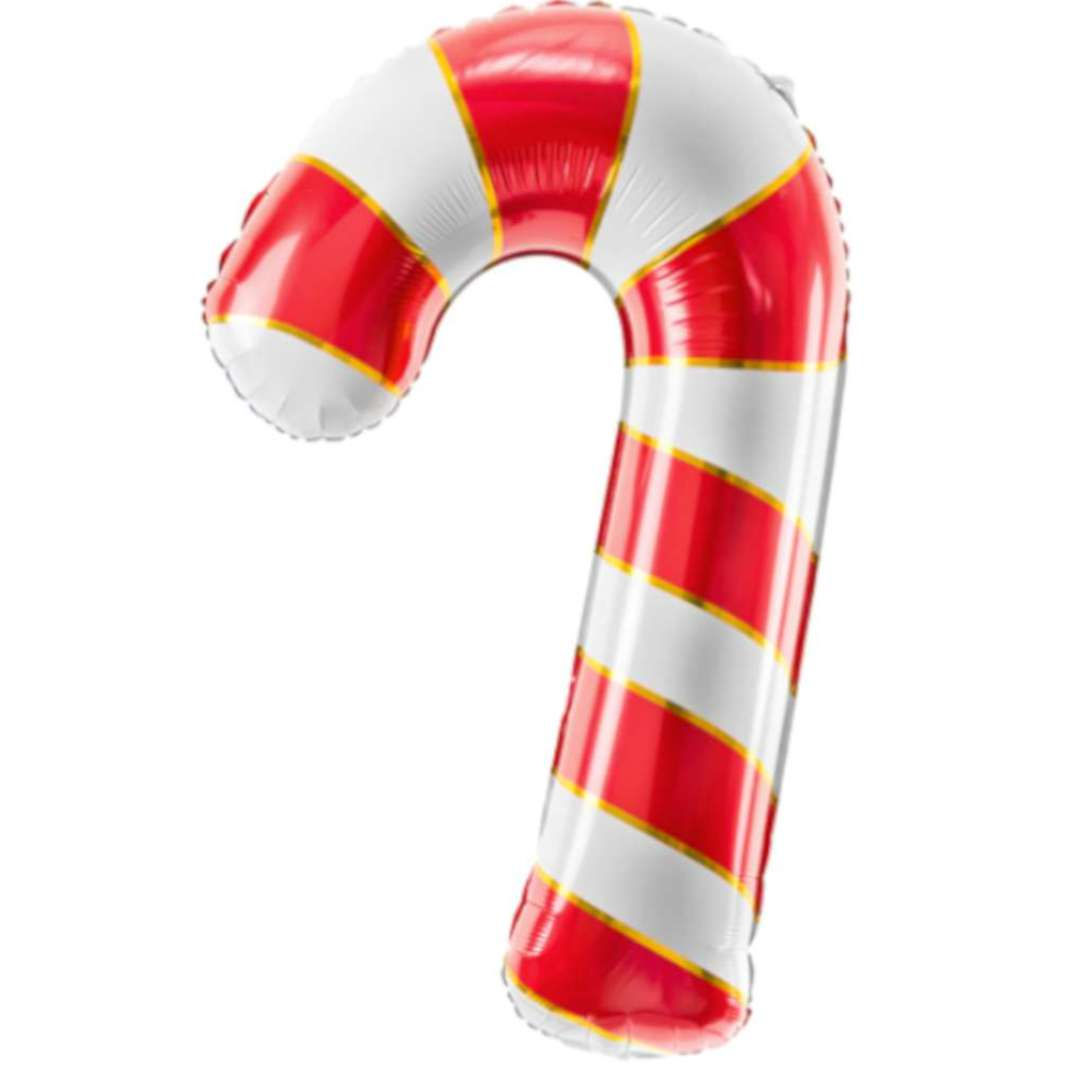 """Balon foliowy """"Cukrowa Laska"""", czerwony, PartyDeco, 32"""", SHP"""