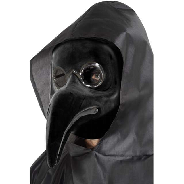 Maska Doktor Plagi czarna Smiffys