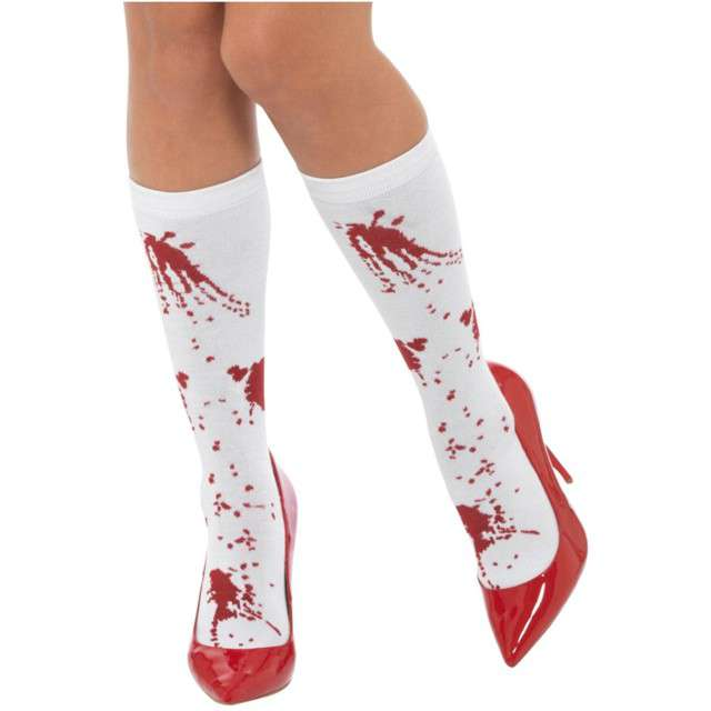 _xx_Blood Splatter Socks White & Re