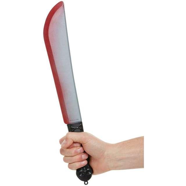 Broń Zakrwawiona Maczeta srebrna Smiffys