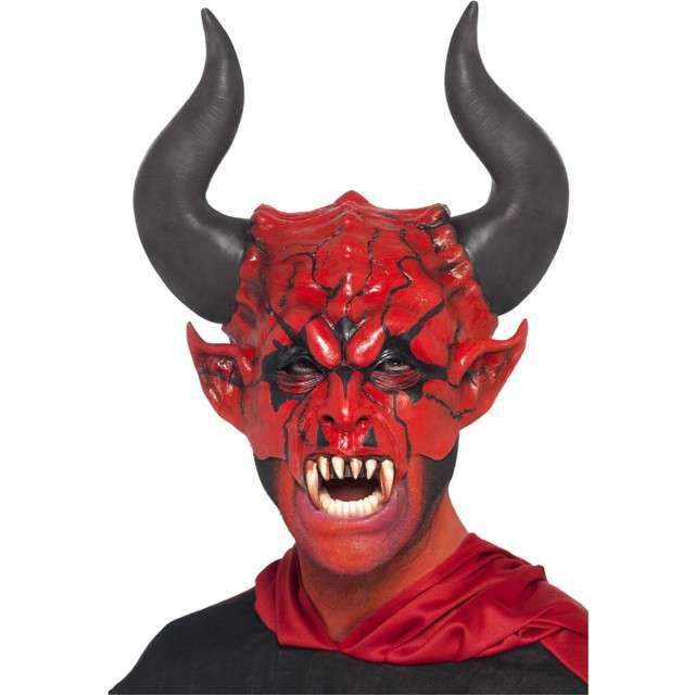 """Maska """"Czerwony Diabeł"""", lateksowa, Smiffys"""