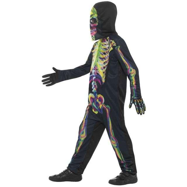 Strój dla dzieci Kolorowy świecący szkielet Smiffys rozm. M