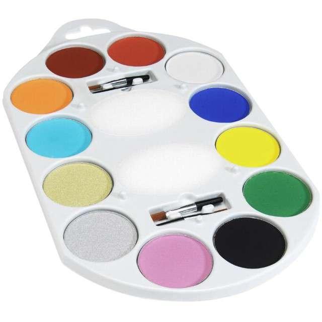 "Make-up ""Farbki Paleta 12 kolorów"", Smiffys, zestaw"