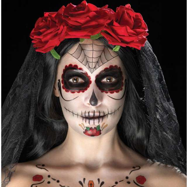 Make-up party Day of the Dead Smiffys zestaw