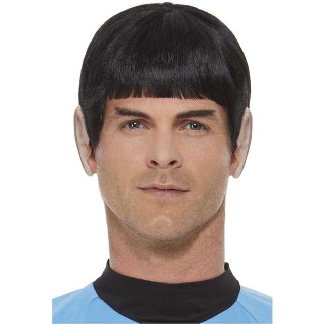 Peruka party Spock z uszami czarna Smiffys
