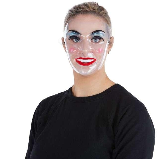 "Maska ""Kobieta z makijażem"", transparentna, Smiffys"