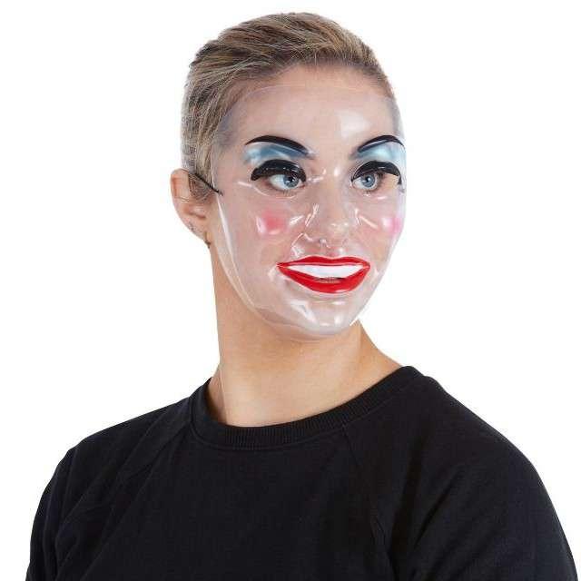 Maska Kobieta z makijażem transparentna Smiffys