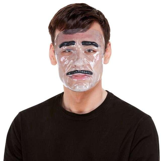 """Maska """"Mężczyzna z wąsem"""", transparetna, Smiffys"""