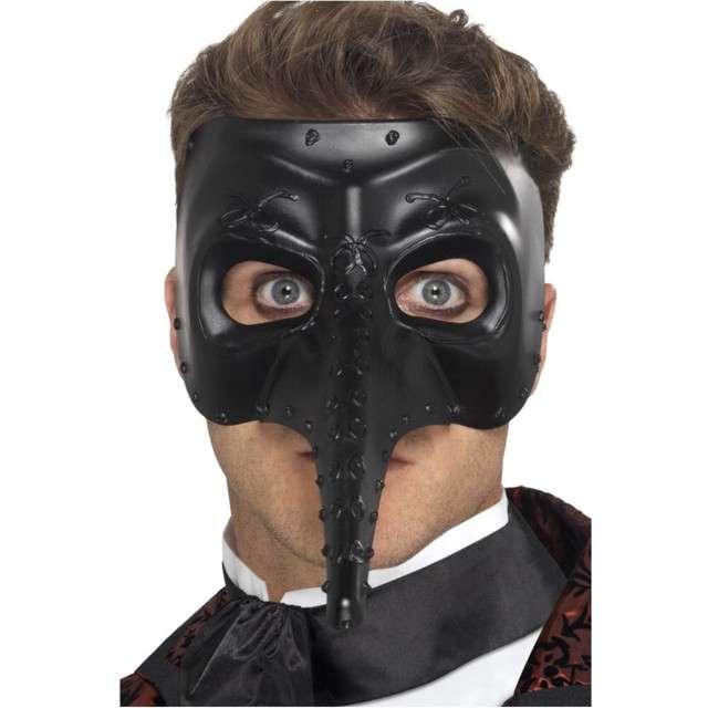 Maska Wenecka Capitano czarna Smiffys