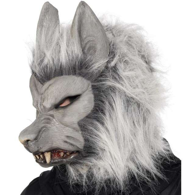 "Maska ""Wilkołak Deluxe"", szara, lateksowa, Smiffys"