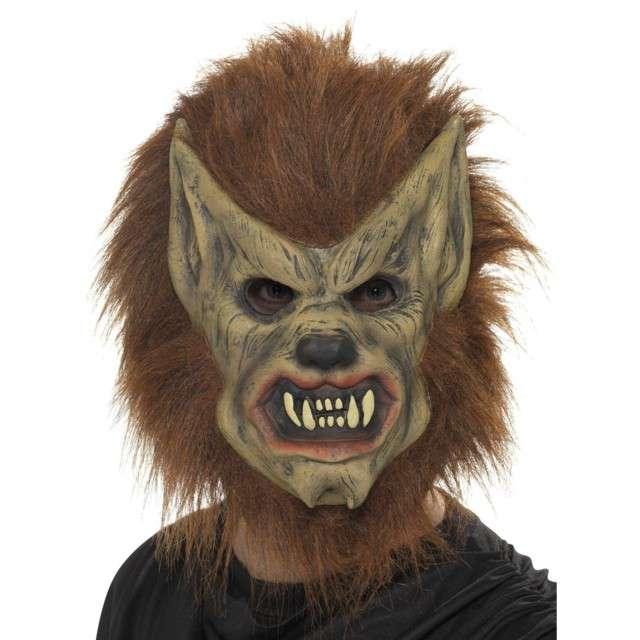 """Maska """"Włochaty Wilkołak"""", brązowa, lateksowa, Smiffys"""