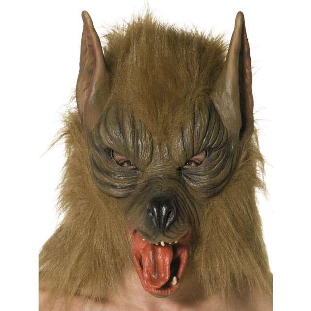 """Maska """"Futrzasty Wilkołak"""", brązowa, lateksowa, Smiffys"""
