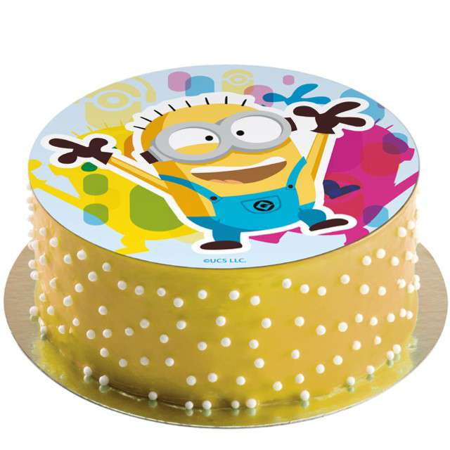 Dekoracja tortu - opłatek bc Minionek Dave 20 cm Dekora