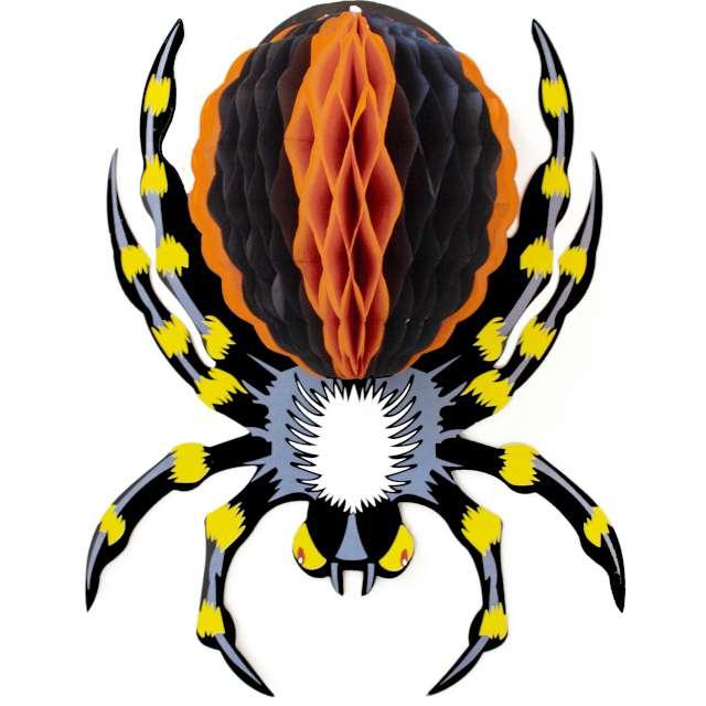"""Dekoracja """"Honeycomb - Hallowenowy Pająk"""", PartyPal, 25 cm"""