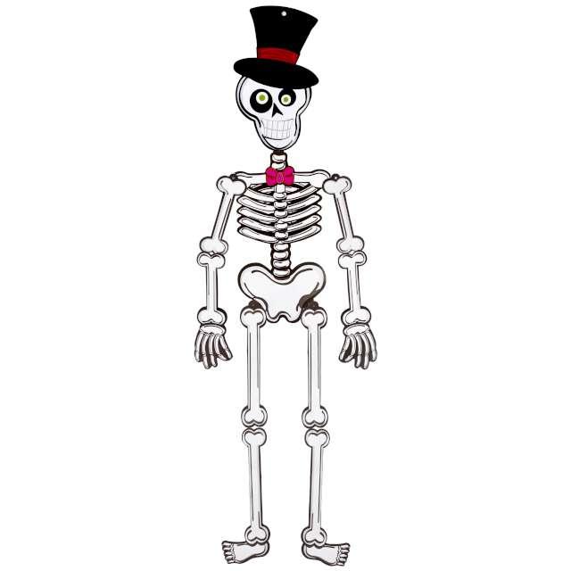 """Dekoracja wisząca """"Szkielet z kapeluszem"""", PartyPal, 93 cm"""