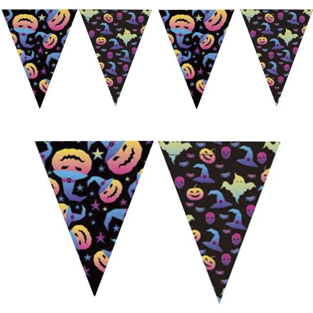 """Baner flagi """"Halloweenowe Dynie"""", PartyPal, 300 cm"""