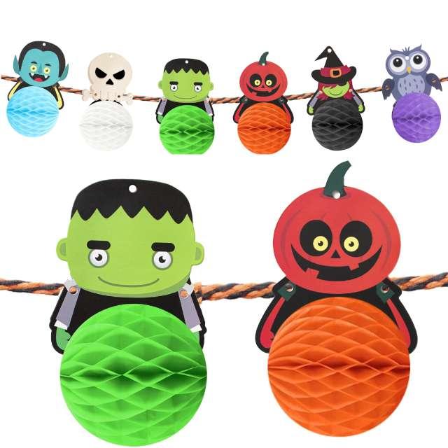 "Baner ""Halloweenowe Potwory i Honeycomby"", PartyPal, 300 cm"
