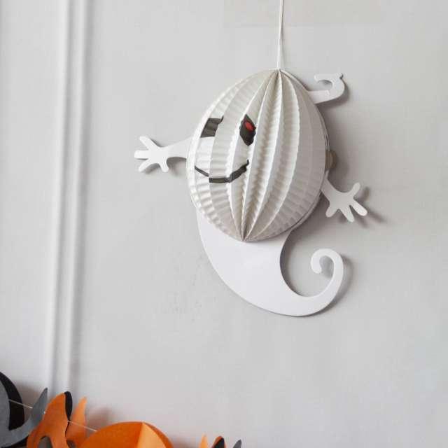 Dekoracja Honeycomb - Halloweenowy Duch mini PartyPal 19 cm