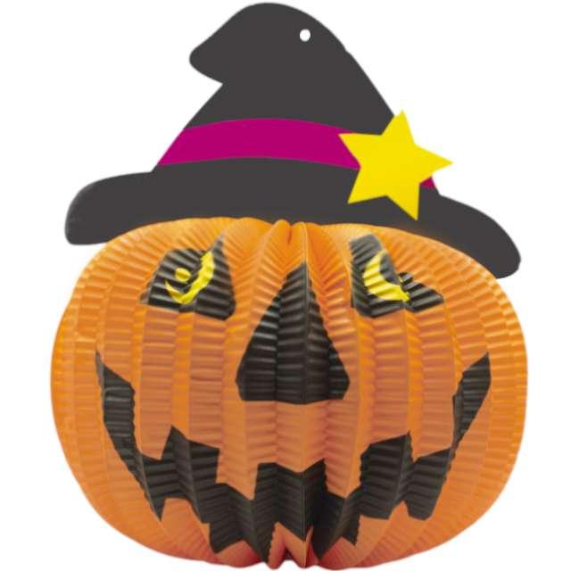 Dekoracja Honeycomb - Halloweenowa Dynia PartyPal 27 cm