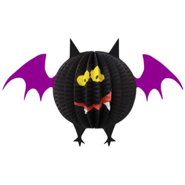 """Dekoracja """"Honeycomb - Halloweenowy Nietoperz"""", PartyPal, 28 cm"""