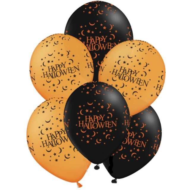 "Balony ""Happy Halloween"", pomarańczowe, PartyPal, 12"", 6 szt"
