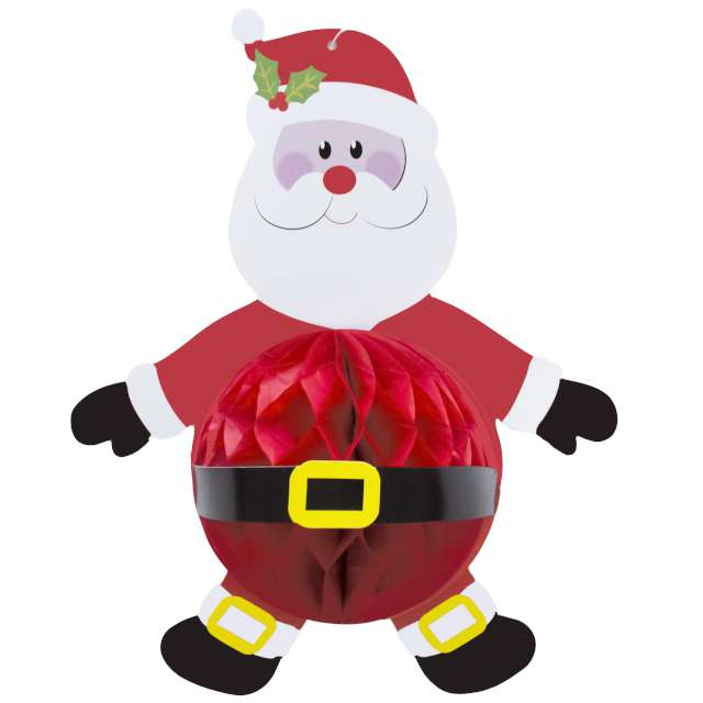Dekoracja Honeycomb - Święty Mikołaj PartyPal 36 cm