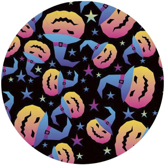 Talerzyki papierowe Halloweenowe Dynie PartyPal 17 cm 6 szt