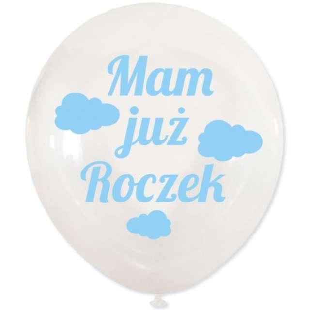 Balony Mam już Roczek transparentne DekoracjePolska 12 5 szt