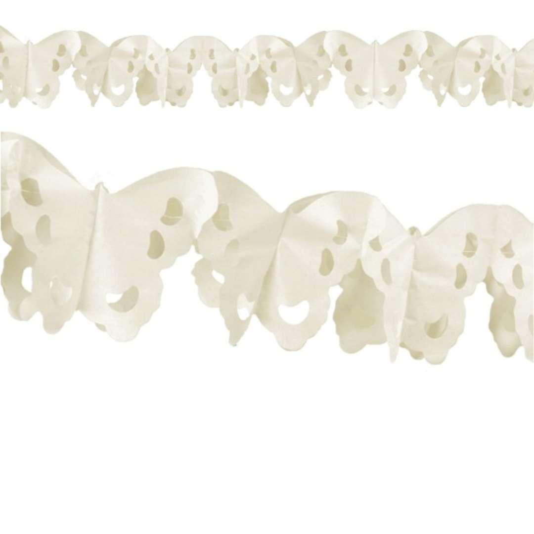 Girlanda Motyl kość słoniowa Godan 300cm
