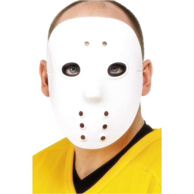 "Maska ""Hokejowa - Jason"", biała, Smiffys"