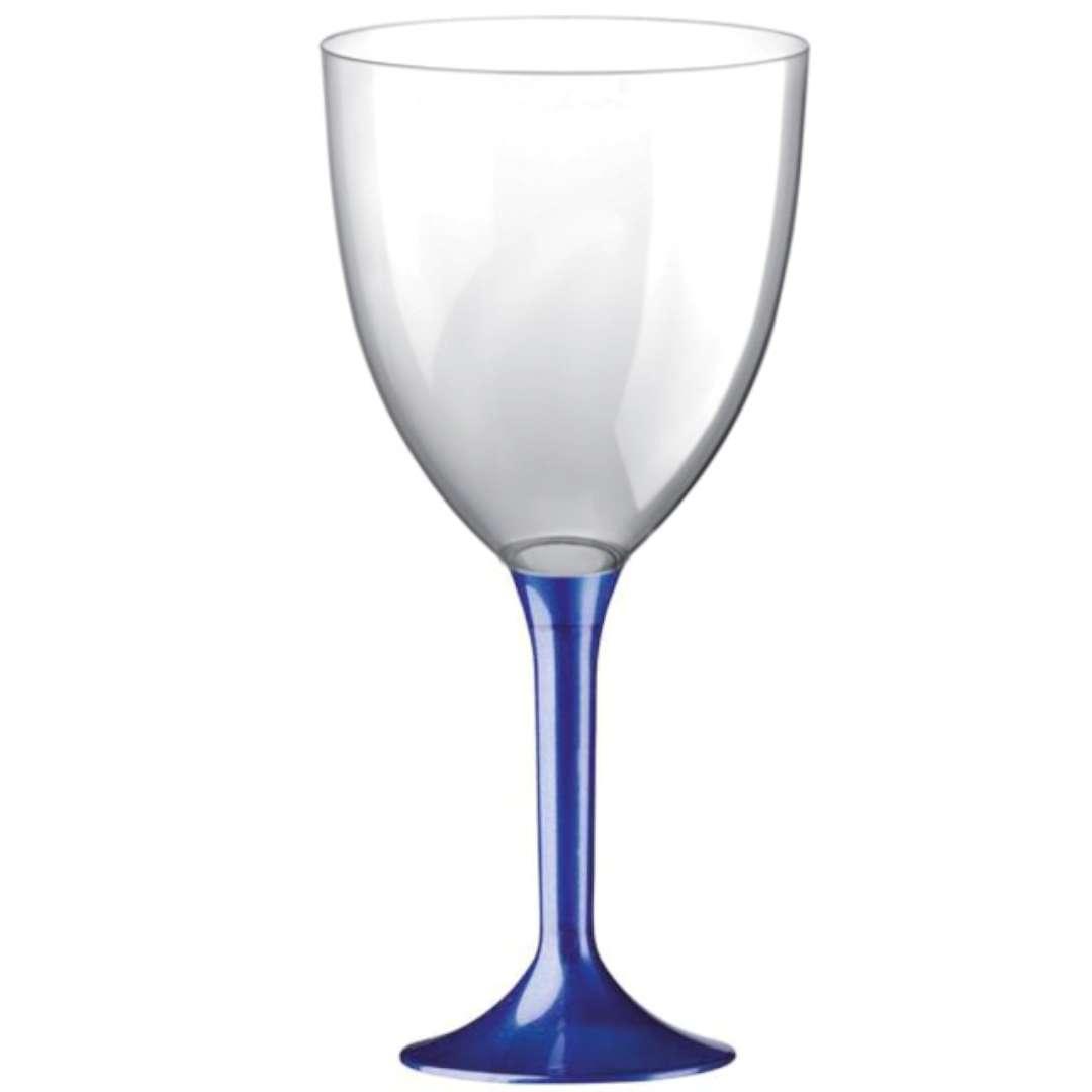 Kieliszki jednorazowe Wino XL granatowe transparentne GoldPlast 300 ml 10szt