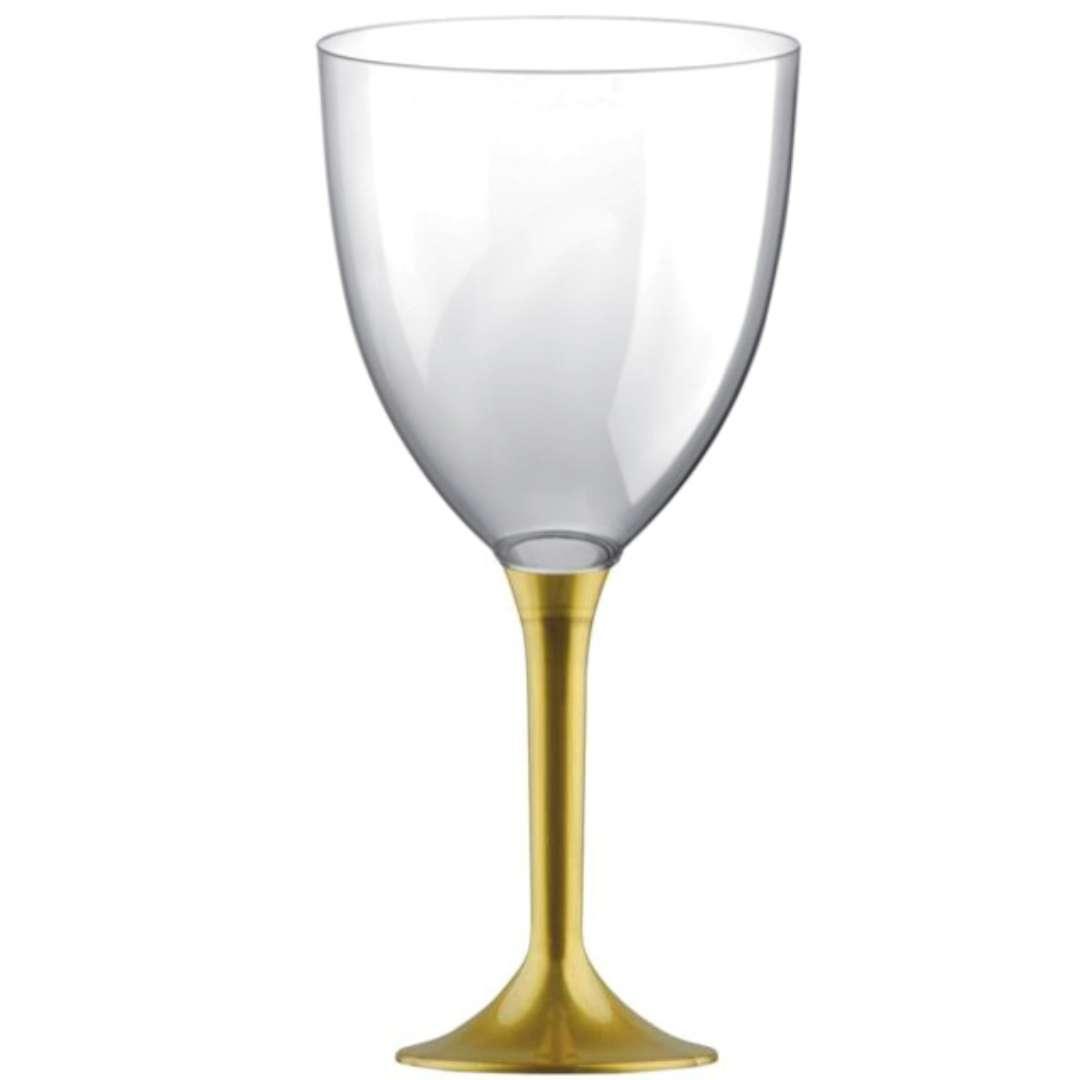 Kieliszki jednorazowe Wino XL złote GoldPlast 300 ml 10szt