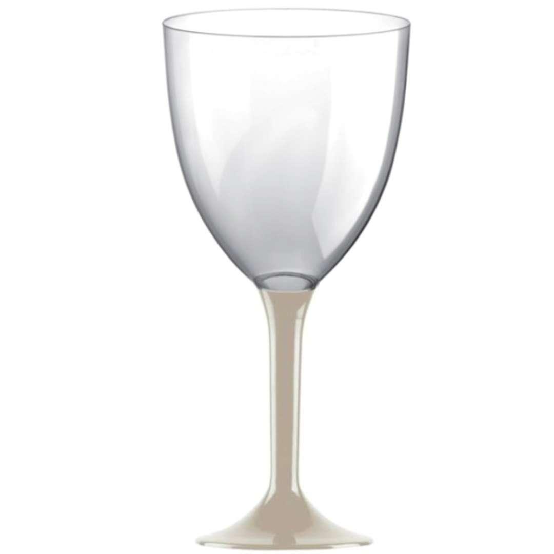 Kieliszki jednorazowe Wino XL beżowe GoldPlast 300 ml 10szt