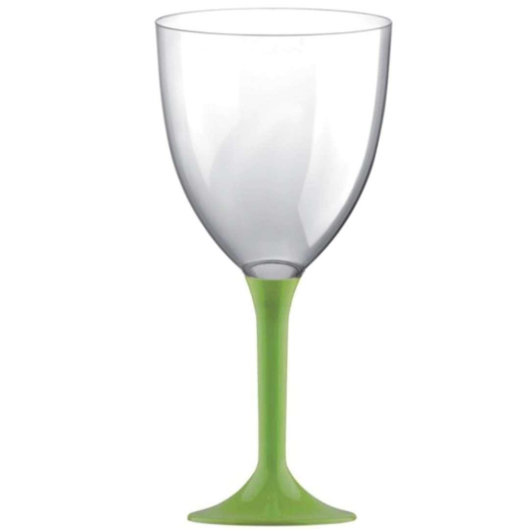 Kieliszki jednorazowe Wino XL zielone jasne GoldPlast 300 ml 10szt