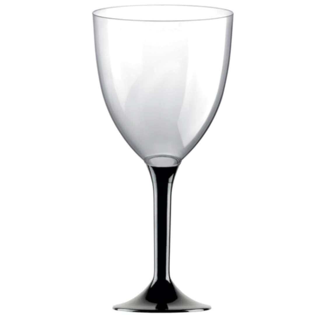 Kieliszki jednorazowe Wino XL czarne GoldPlast 300 ml 10szt