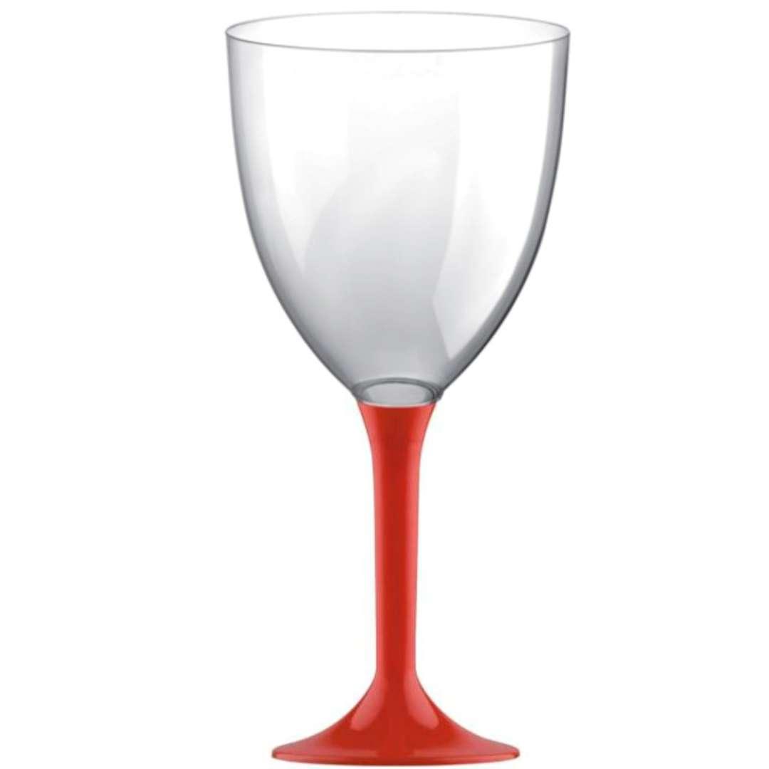 Kieliszki jednorazowe Wino XL czerwone GoldPlast 300 ml 10szt