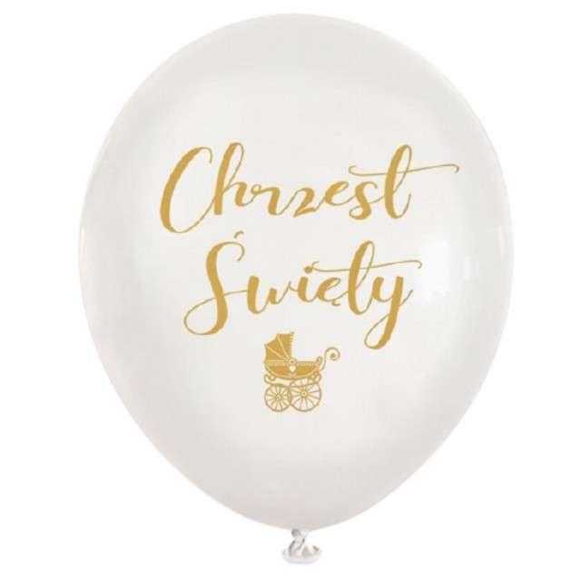 Balony Chrzest Święty białe Dekoracje Polska 12 5 szt