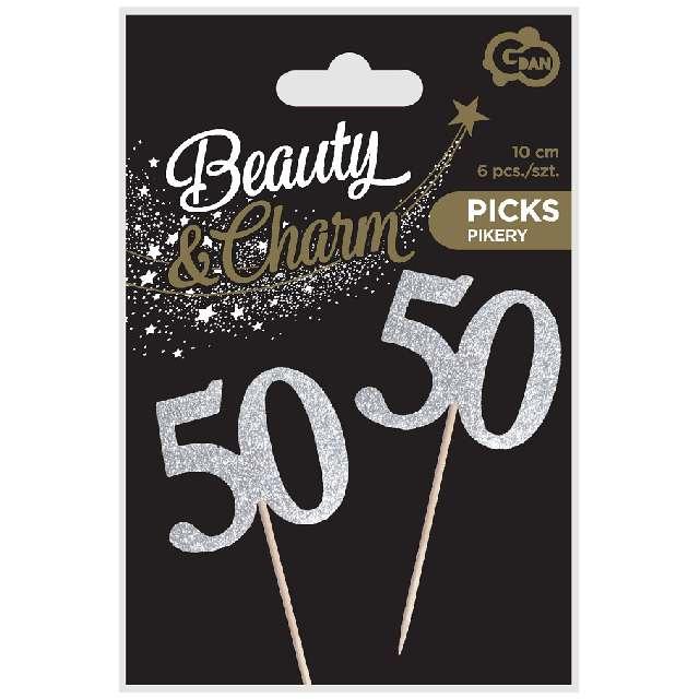 Pikery 50 Urodziny Classic srebrne Godan