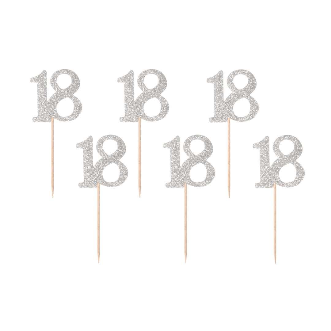 """Pikery """"18 Urodziny Classic"""", srebrne, Godan"""