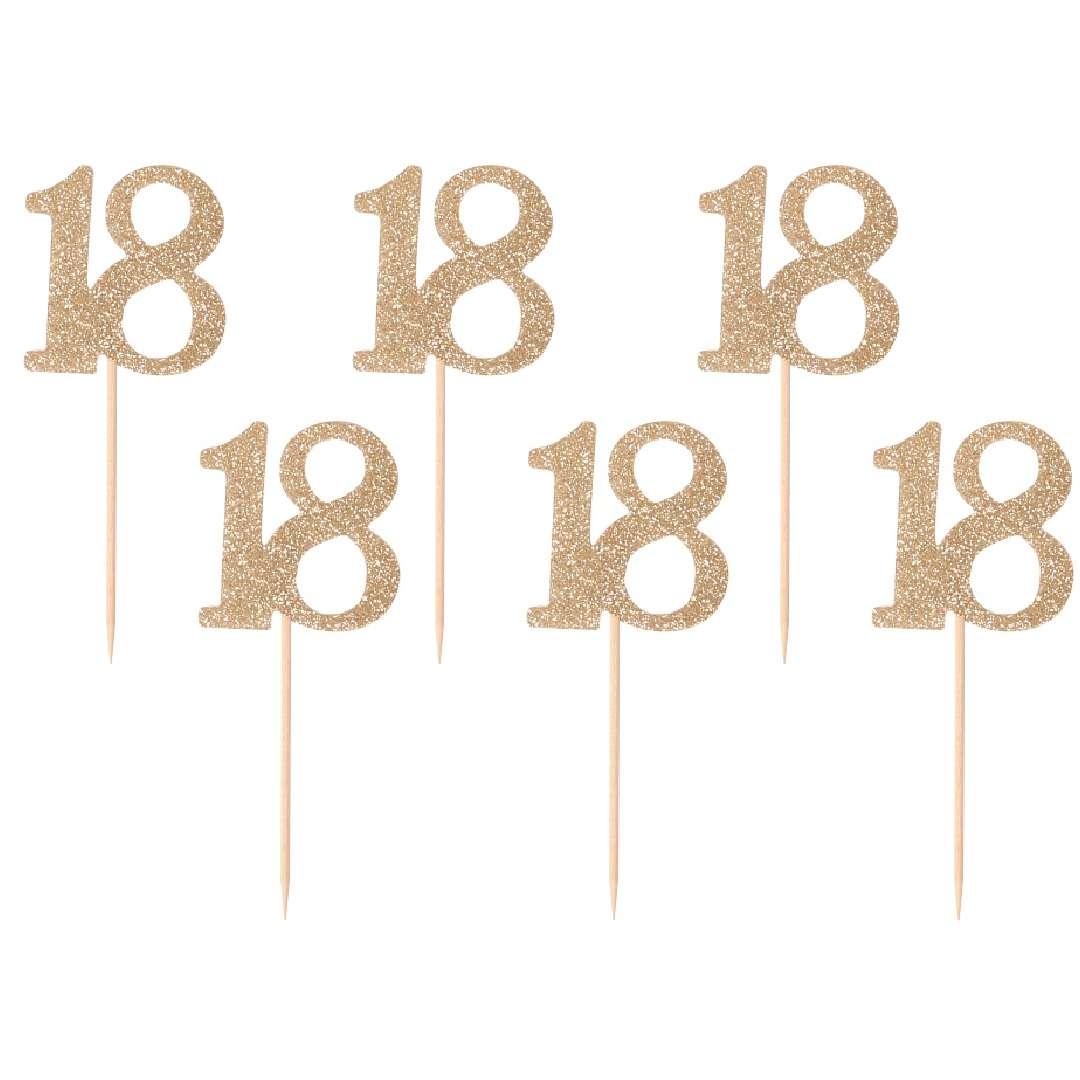 """Pikery """"18 Urodziny Classic"""", złote, Godan"""