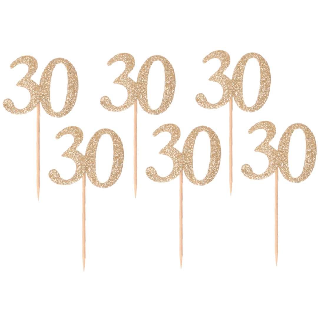 """Pikery """"30 Urodziny Classic"""", złote, Godan"""