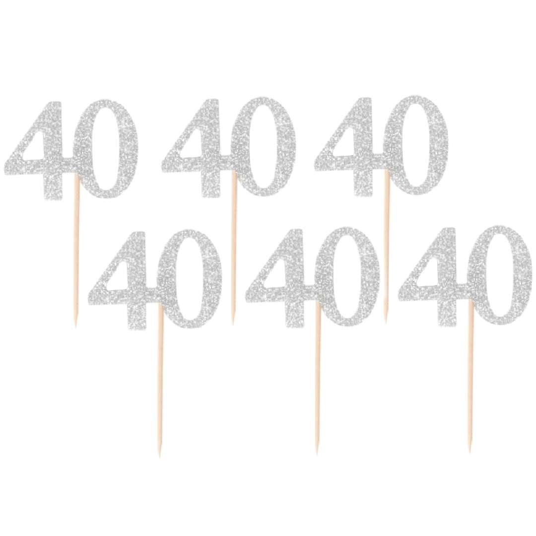 Pikery 40 Urodziny Classic srebrne Godan