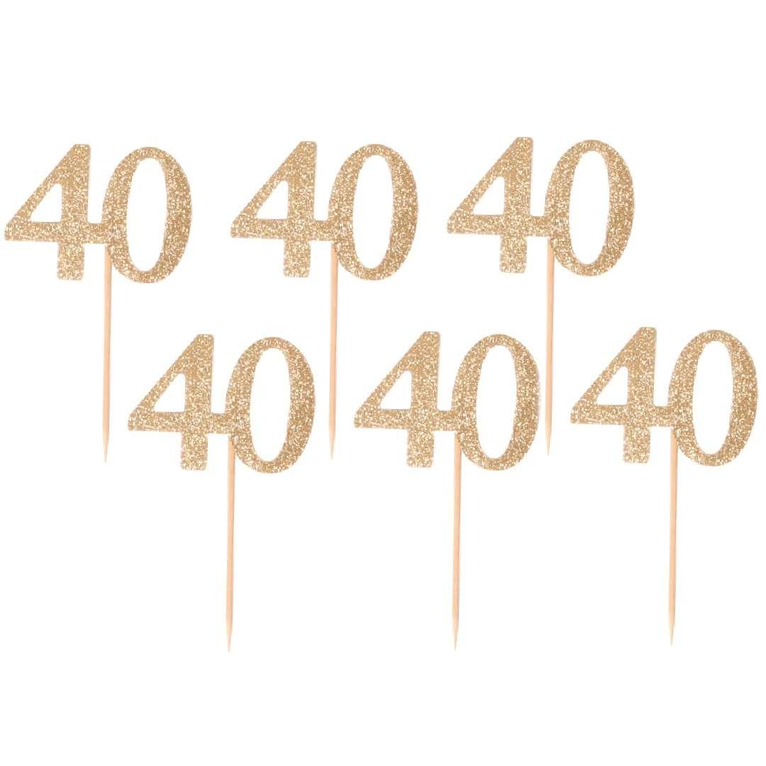 """Pikery """"40 Urodziny Classic"""", złoty, Godan"""