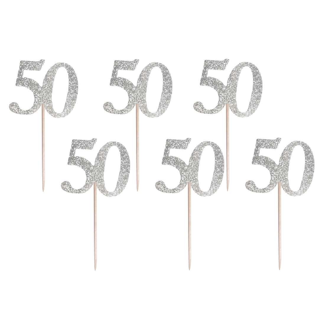 """Pikery """"50 Urodziny Classic"""", srebrne, Godan"""