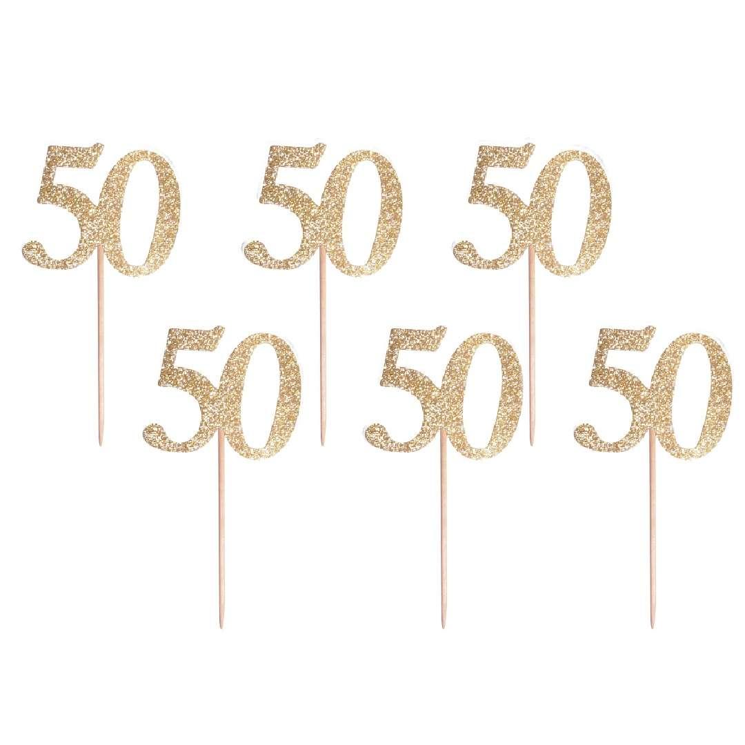 Pikery 50 Urodziny Classic złoty Godan