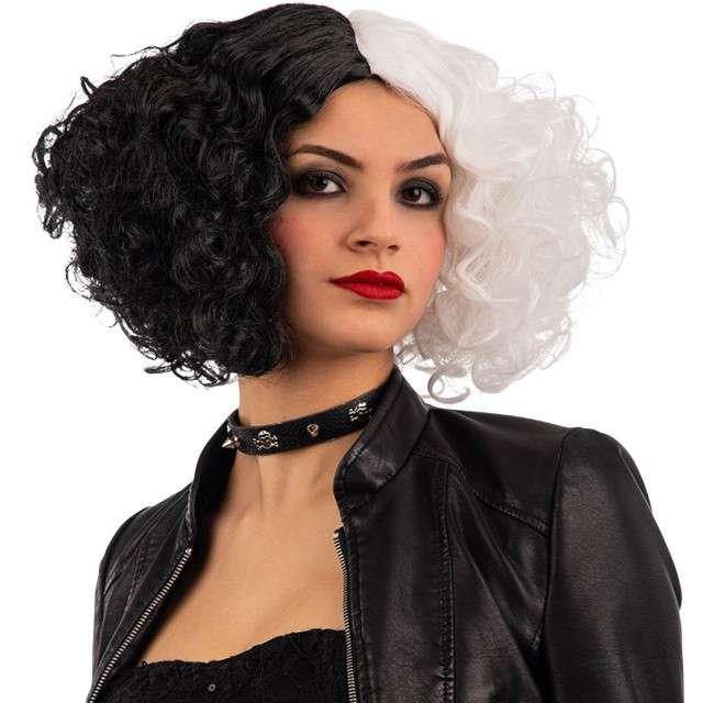 Peruka party Cruella czarno-biała Carnival Toys