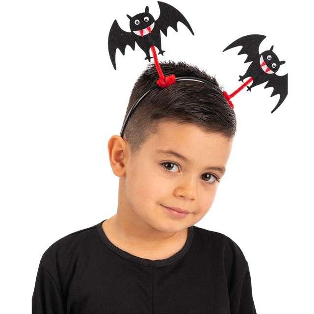 """Opaska party """"Halloweenowe nietoperze"""", czarna, Carnival Toys"""