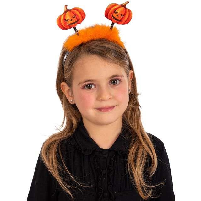 """Opaska party """"Dynie z marabutowym puszkiem"""", pomarańczowa, Carnival Toys"""