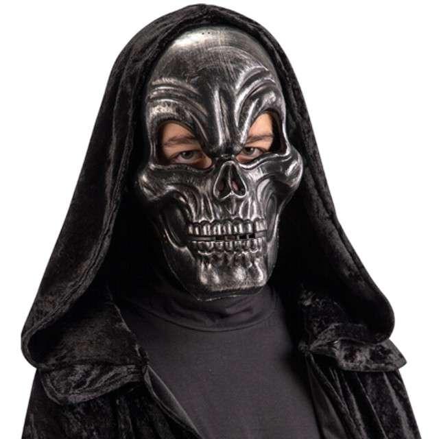 "Maska ""Szkieletor"", czarno-srebrna, plastikowa, Carnival Toys"