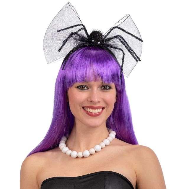 """Opaska party """"Wielki pająk i kokarda"""", czarna, Carnival Toys"""